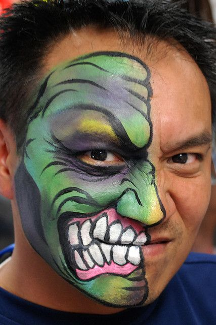 Face paintings, Hulk and Faces on Pinterest