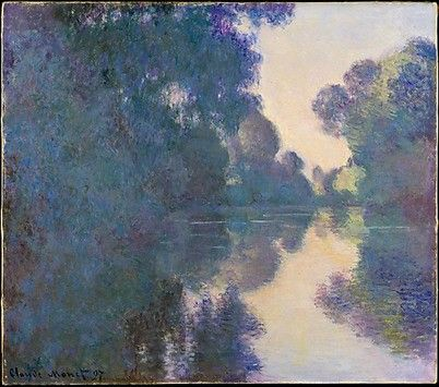 Morning on the Seine near Giverny Claude Monet (French, Paris 1840–1926 Giverny)