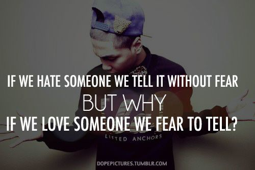 Why is that?  Fear of rejection but love to reject