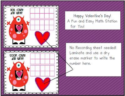 Valentine's Day Freebie for You!: Math Station, Math Center, Math Sheet, Education Valentines, February Valentines, Classroom Valentines, Freebie Math, Valentines Math