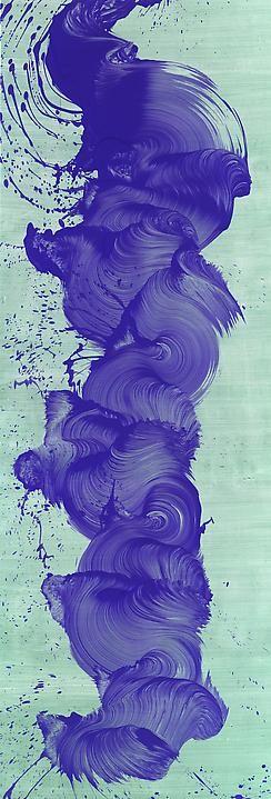 "Painting ""When Things Get Bad"" by James Nares, via Paul Kasmin Gallery."