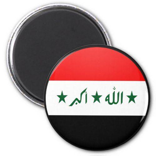 Iraq Quality Flag Circle Magnet Zazzle Com Circle Magnets Personalized Custom Flag