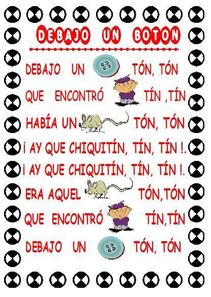 Libro de canciones infantiles con pictogramas