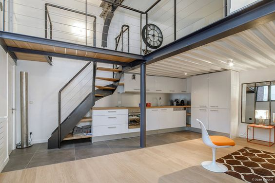 r novation une ancienne usine divis e en lofts dans le 10 me arrondissement de paris l. Black Bedroom Furniture Sets. Home Design Ideas
