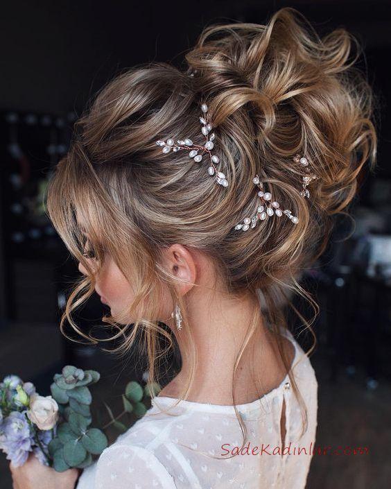 2019 Gelin Taci Modelleri Ve Gelin Saci Ornekleri Wedding Hair
