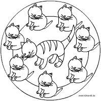 Katze Baby Mandala