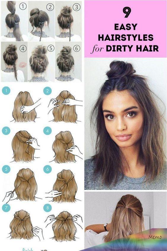 Hairstyle Ideas For Medium Length Hair Hairstyle Ideas Layers Hairstyle Ideas For High School Ha In 2020 Hair Tutorials For Medium Hair Hair Styles Easy Hairstyles