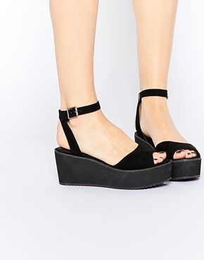 ASOS TEDDY Wedge Sandals
