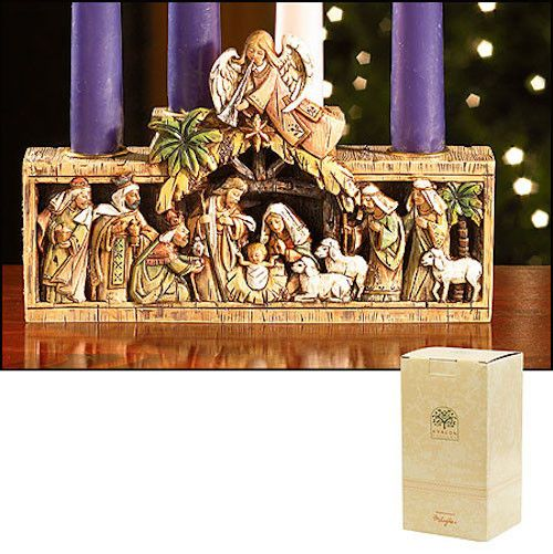 Nativity Scene Candle Holder Advent And Christmas Avalon Collection