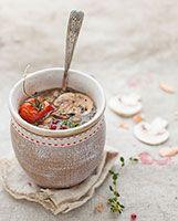 Recette - Soupe de lentilles et champignons