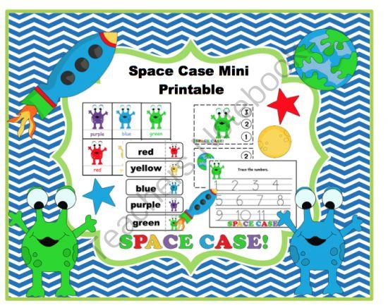 Space Case Mini Printable From Preschool Printables On