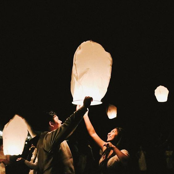 chinese floating lantern wedding send off ideas