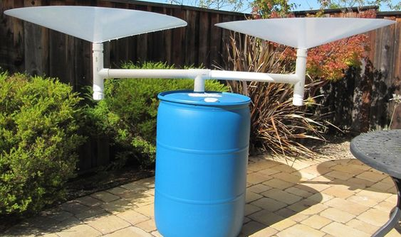 Build your own standalone rainwater harvesting system with RainSaucers: