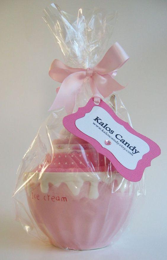 The Baylee  Ice Cream Onesie  Baby Shower Gift Set by KalosCandy, $20.00