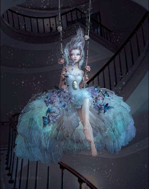"Natalie Shau, Double Show with Ray Caeser ""Frozen Flower"""