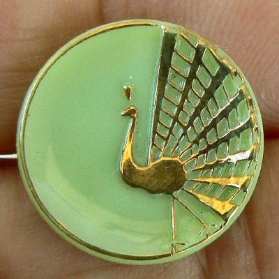 Peacock Button: