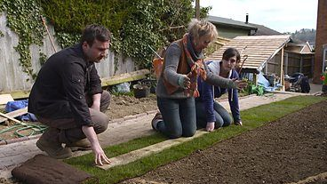 Laying a new lawn DURATION: 03:12 First-time gardeners, Dan and Dominique, are cracking on with their new garden in Gloucestershire. Carol Klein shows them how to lay a new lawn from scratch. Available since: Fri 4 Apr 2014