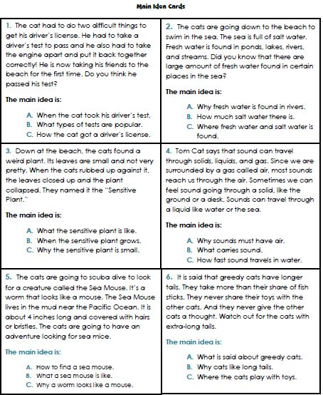 Main Idea Worksheet 5th Grade Free - Worksheet Printable