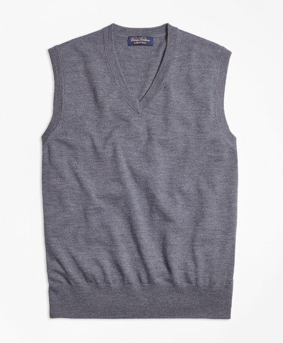 Saxxon Wool  Sweater VestGrey