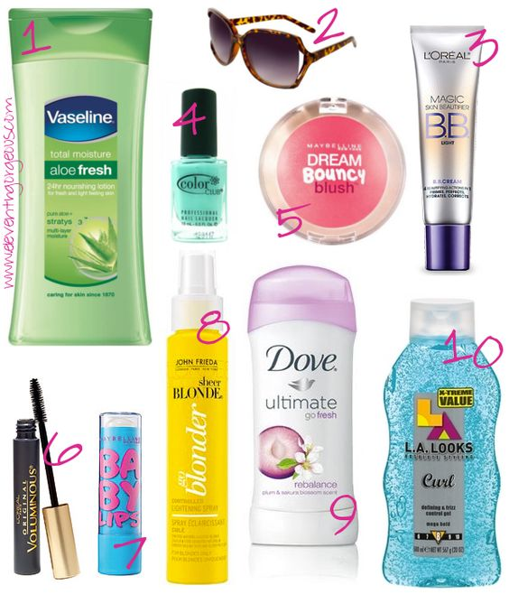 Top 10 Drugstore Summer Essentials ~ Affordable Beauty, Fashion, and MAKEUP | eleventhgorgeous #vaseline #summer