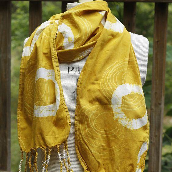 Batik Scarf | Yellow