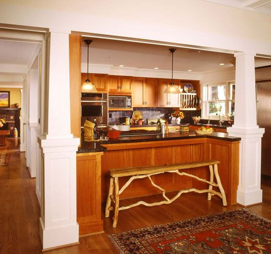 House re imagined craftsman style interiors in a 1969 for Furniture removal seattle