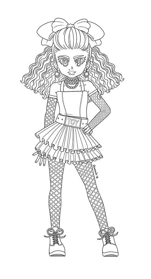 80s B B Lol Surprise Coloring Page By Www Deviantart Co On
