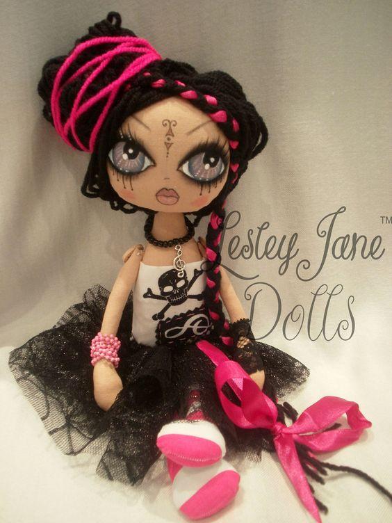 Rock Star Cloth Art Rag Doll- V's favorite