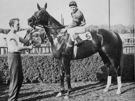 Hill Gail(1949)Bull Lea- Jane Gail By Blenheim II. 32 Starts 11 Wins 5 Seconds 3 Thirds. $335,625. Won 1952 Kentucky Derby, Santa Anita Derby. Died In 1968 In Ireland.
