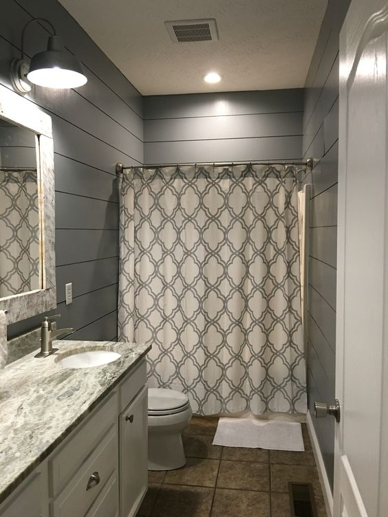 kids bathroom remodel shiplap cut at lowes outdoor lights from lowes