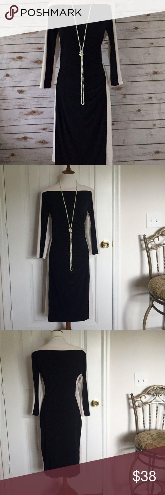 Ralph Lauren Block Dress Beautiful black & cream Ralph Lauren Block Dress.  Excellent condition - only worn once. size 14 Ralph Lauren Dresses