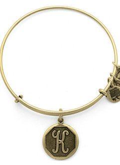 Initial K Charm Bracelet