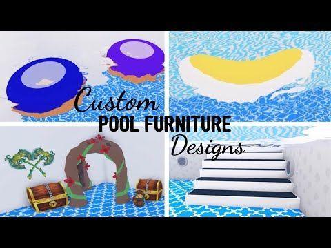 9 Custom Pool Furniture Design Ideas Building Hacks Roblox Adopt Me Its Sugarcoffee In 2021 Custom Pet Furniture Custom Pools Cute Room Ideas
