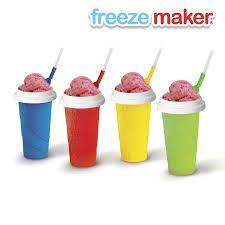 FREEZE MAKER Ahora tú puedes hacer tus raspados favoritos o frappes desde la comodidad de tu hogar en 3 sencillos pasos con el nuevo vaso congelado FREEZE MAKER.  PASO1: Congela tu vaso FREEZE MAKER  PASO 2: Añade tu bebida preferida  PASO 3: Apachurra y ¡¡¡Disfruta!!!!  ¡Es tan sencillo y refrescante a la vez!