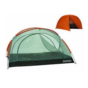 "Star-Lite 3-Person w/Fly Fiber Glass, Rust - Trail Weight: 7.9 lbs. - Packed size: 18"" X 5"" - 2 Doors - Interior Area: 48.75' - Peak Height: 51"" - Floor Material: 190T polyester, 2000mm P.U. coated - Mesh: No-see-um - Number of poles: 2 shock corded fiberglass 8.5 mm. - Pole sections: 18"" lengths. - Rainfly Included. - 90"" X 78"" X 54"""