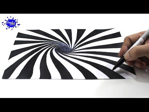 C mo dibujar una ilusi n ptica 3d how to draw optical - Efectos opticos youtube ...