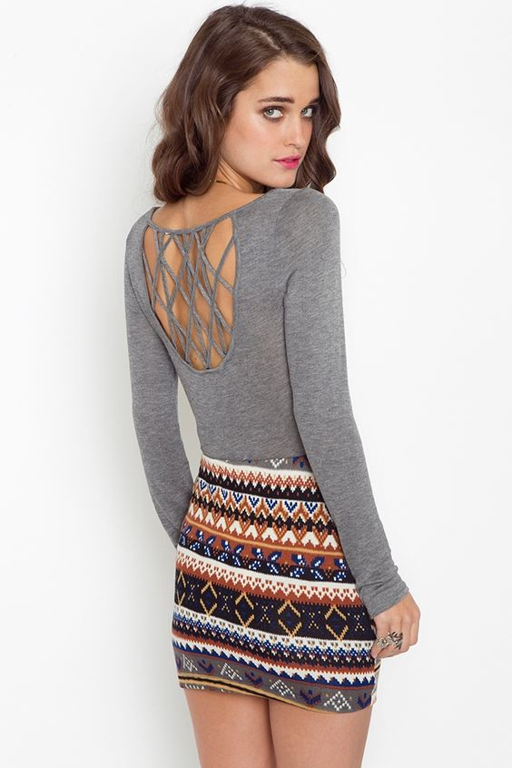Lattice Knit Top (and the skirt if it were twice the length)
