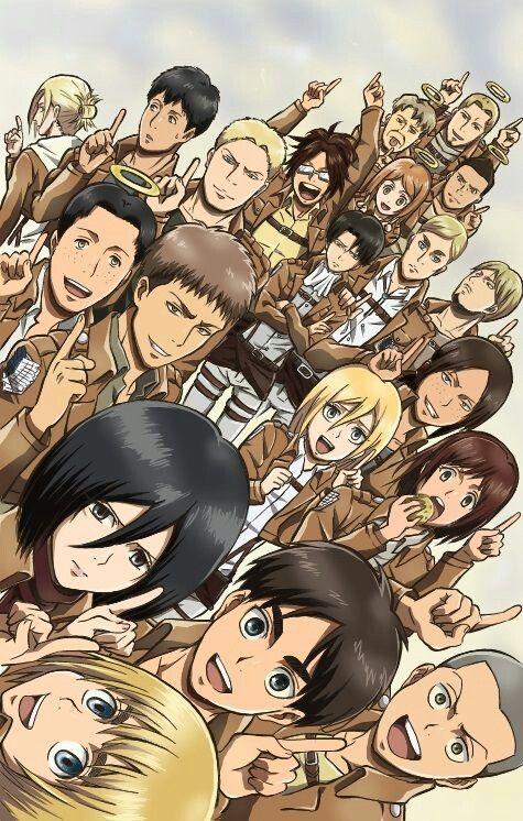 Aww Group Selfie Attack On Titan Anime Attack On Titan Anime