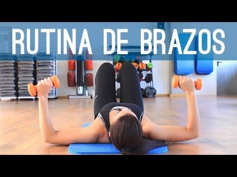 RUTINA BRAZOS PARA HOMBROS TRICEPS Y PECHO - YouTube