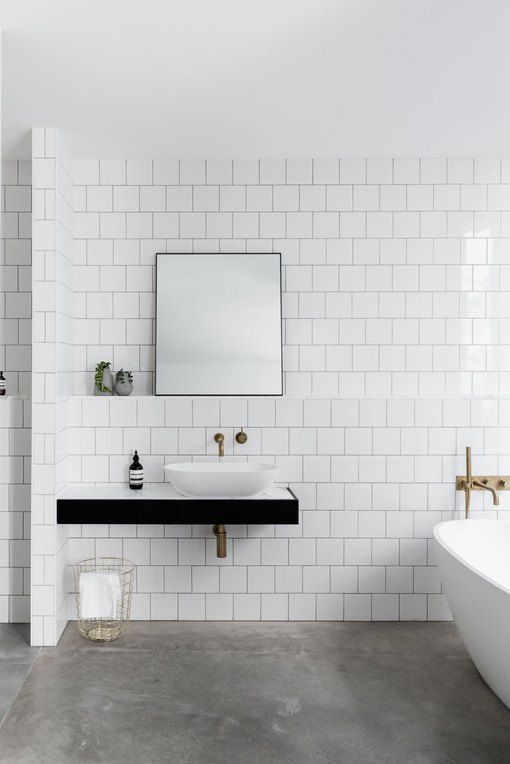 10 Photos That Will Convince You To Get A Concrete Bathroom Floor Hunker Minimalist Bathroom Concrete Bathroom Modern Bathroom Design