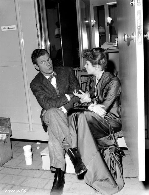 Joseph Cotten and Ingrid Bergman on the set of Gaslight :)