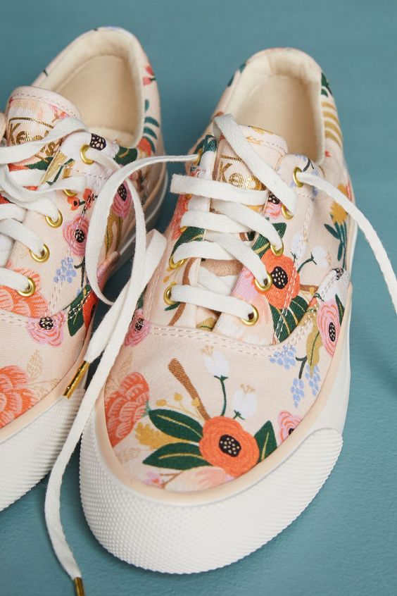 Slide View: 5: Keds x Rifle Paper Co. Lively Sneakers