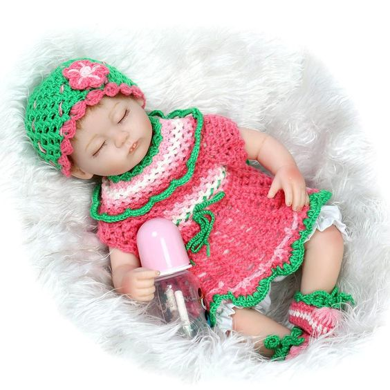 Cute Newborn Baby Girl Dolls 42cm Real Touch Lifelike Silicone Reborn Baby Dolls For Kids Birthday Gifts Cheap Reborn Babies