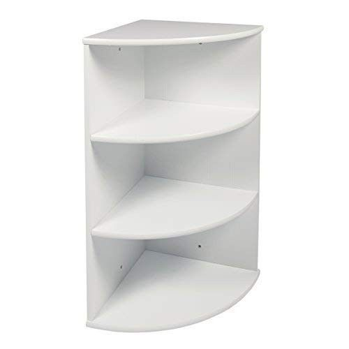 Details About White Corner Bathroom Shelves Storage Unit Tiers Wall Mounted Shelf Cabinet Wood Bathroom Storage Shelves Wall Mounted Corner Shelves Wall Mounted Shelves