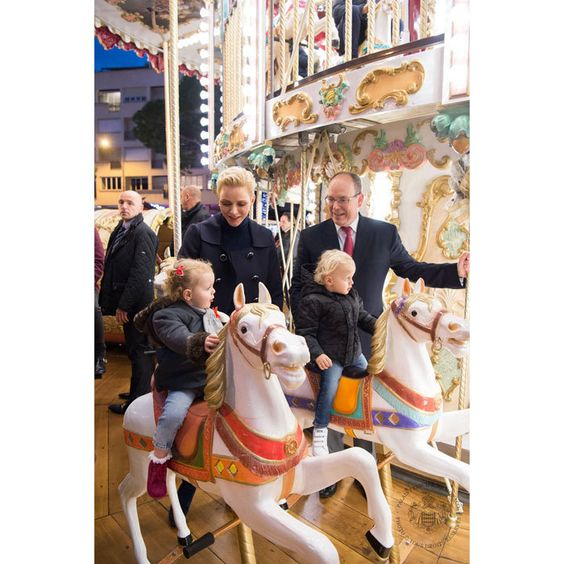 Prince Jacques and Princess Gabriella visited Monaco's Christmas Village with their parents, Princess Charlene and Prince Albert.