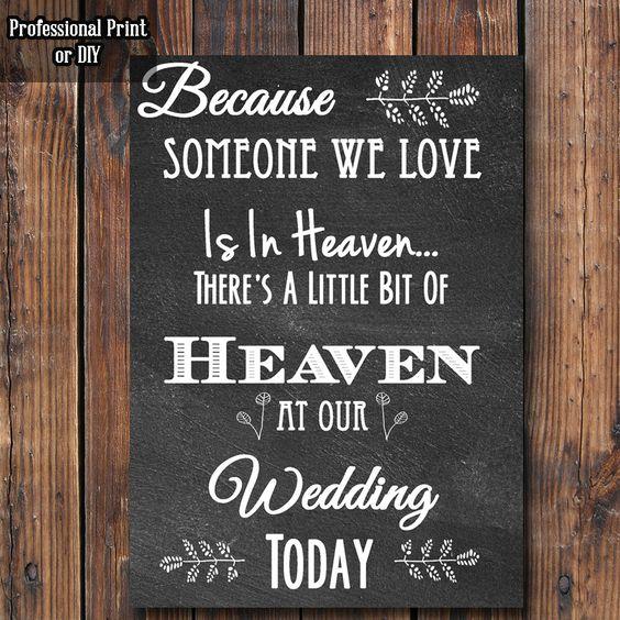 Chalkboard In Loving Memory Wedding Sign || Wedding Sign Print by FreshVibeDesigns on Etsy https://www.etsy.com/listing/243186546/chalkboard-in-loving-memory-wedding-sign