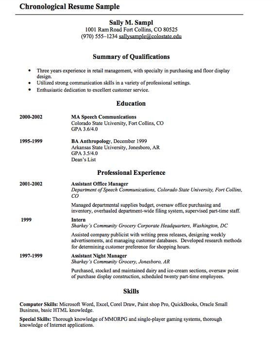 modele cv pizzaiolo la rochelle ôrts Pinterest Seo - samples of chronological resumes