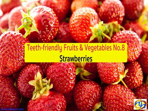 Teeth-friendly Fruits & Vegetables No. 8: Strawberries // Dr Nease Orthodontics 2455 E. Main Street Spartanburg, SC 29307 (864) 579-7700 #Braces #Orthodontics #Invisalign #SpartanburgOrthodontist