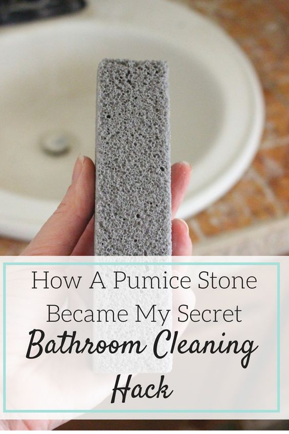 how a pumice stone became my secret bathroom cleaning hack cleaning bathrooms natural and. Black Bedroom Furniture Sets. Home Design Ideas