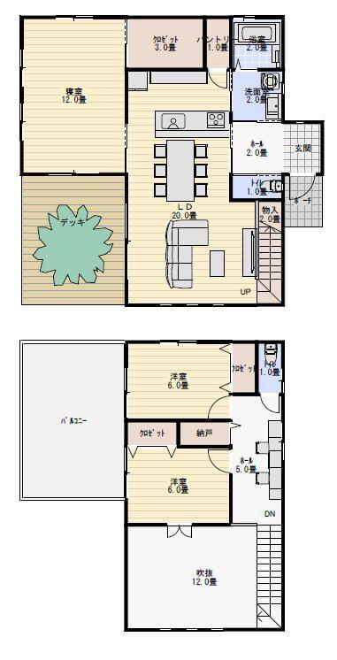 35坪3ldk吹き抜けの大きな家の間取り図 間取り 人気 間取り 積水